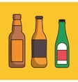 liquor drink bottle vector image vector image