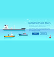 marine ships and boats color vector image vector image