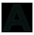 mesh letter a in polygonal 2d style vector image