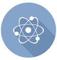 molecule icon with a long shadow vector image vector image