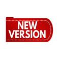 new version banner design vector image vector image