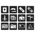 One tone Simple Travel and trip Icons vector image vector image