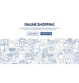 online shopping banner design vector image vector image