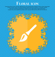Paint brush Artist Floral flat design on a blue vector image vector image