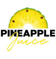 pineapple fruit tropical juice label vector image vector image