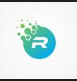 pixel symbol letter r design minimalist vector image vector image