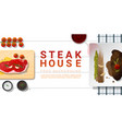 raw fresh meat and grilled meat strip loin steak vector image vector image