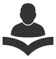reader boy icon vector image vector image