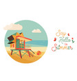 say hello to summer poster banner vector image