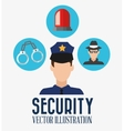 Security cartoon design vector image