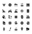 set of artificial intelligence glyph icons vector image vector image