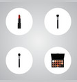 set of greasepaint realistic symbols with vector image vector image