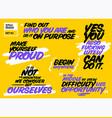 set short motivational quotes inspiring cards vector image