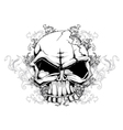 Skull with floral