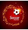 soccer abstract background poster football design vector image vector image