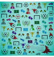 Soccer background Icons set eps10 vector image vector image