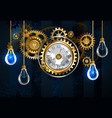 watches and light bulbs vector image vector image