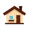 White cottage icon in flat style vector image vector image