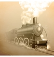 Old Style Locomotive vector image