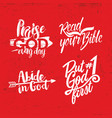 a set of christian lettering vector image vector image