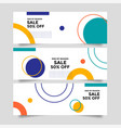 abstract banner background with geometric shapes vector image