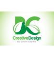 bc green leaf letter design logo eco bio leaf vector image vector image