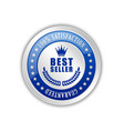 best seller badge placed on white background vector image