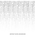 Binary code black and white background with digits vector image vector image