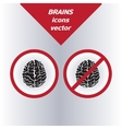 Brain icons On the white background vector image vector image