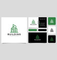 building logo with line art style and business