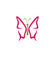 butterfly beauty logo simple colorful icon logo vector image vector image