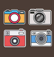 camera flat style stickers vector image vector image