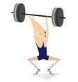 cartoon man weightlifter isolated vector image