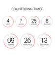 circle countdown clock counter timer on white vector image vector image
