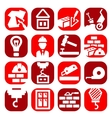 color construction icons set vector image vector image
