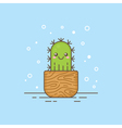 Cute cartoon cactus character vector image vector image
