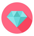 Diamond Jewelry Circle Icon with long Shadow vector image vector image