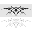 Dragon tattoo silhouette vector image vector image