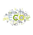 ecology lifestyle green energy recycle vector image vector image