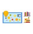 elearning online education process vector image