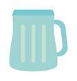 empty beer glass vector image vector image