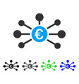 euro relations flat icon vector image vector image