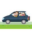 family car simplified of a vehicle vector image vector image