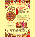 fast food lunch dishes sketch poster template vector image vector image