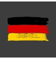 Flag of Germany on a dark background vector image