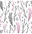 floral seamless pattern with herbs-02 vector image vector image