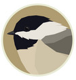 forest wild life geometric chickadee rounde frame vector image vector image
