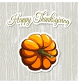 Happy Thanksgiving Day Pumpkin vector image