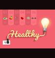 Healthy ideas concept creative light bulb design vector image vector image