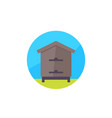 hive apiary icon flat design vector image